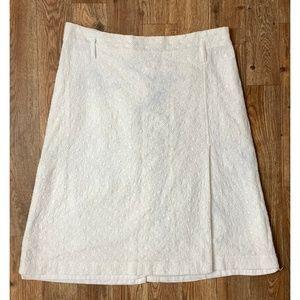 EXPRESS Design Studio White Skirt! Semi Sheer